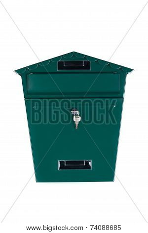 Green mailbox.