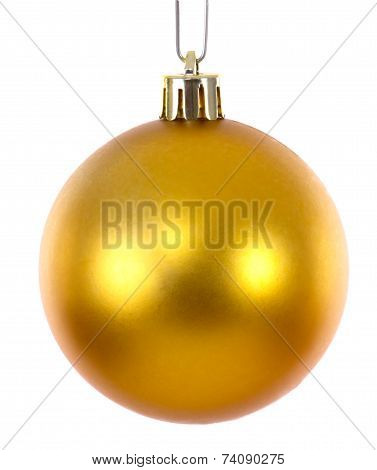 Golden Christmas Ball Ornament