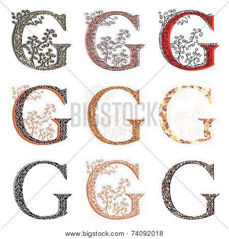 Various Combination Fishnet Letter G.