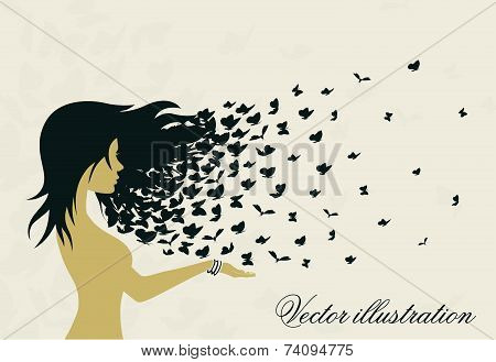 women's hairstyles and hair with loosened butterflies