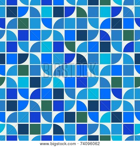Vintage colorful decorative seamless pattern, rhombic abstract background.
