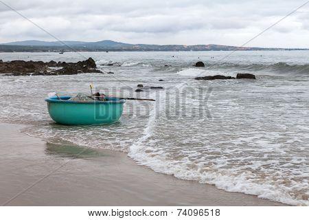 Fishing Boat On Beach. Vietnam.