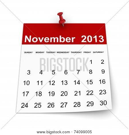 Calendar 2013 - November