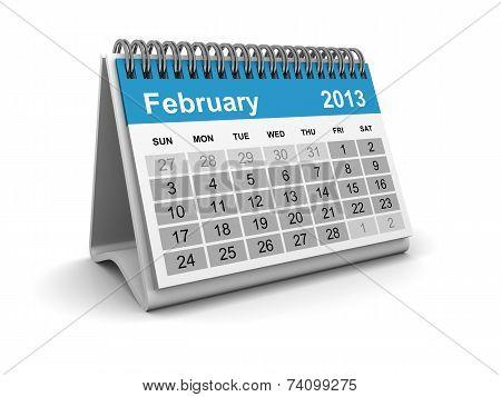 Calendar 2013 - February