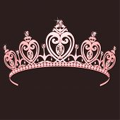 image of princess crown  - Beautiful shining true princess crown - JPG