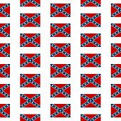 picture of confederation  - Confederate States of America seamless pattern on white background - JPG