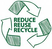 stock photo of reuse recycle  - Illustration of recycling sign - JPG
