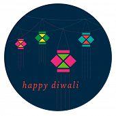 stock photo of diwali lamp  - Diwali lamp vector graphic - JPG