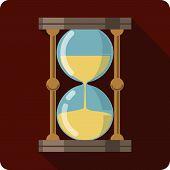 pic of sand timer  - Sand Glass Timer  vector illustration in flat style eps 10 - JPG
