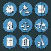 foto of justice law  - law judge icon set - JPG