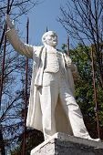 stock photo of lenin  - White statue of Vladimir Lenin in Russia - JPG