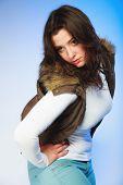 foto of plus size model  - Winter fashion - JPG