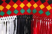 pic of nomads  - Knitted fabric the nomads of Iran as part of the tent - JPG
