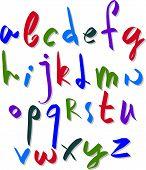 foto of verbs  - Hand written fresh font - JPG