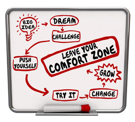picture of status  - Leave Your Comfort Zone plan or diagram flowchart showing how to change - JPG