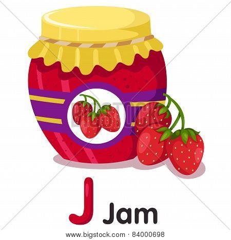 Illustrator of strawberry jam