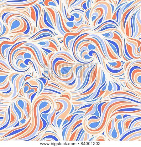 Blue And Orange Line Swirls