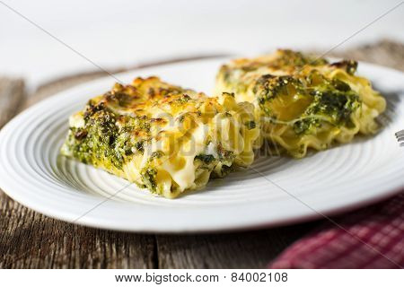 Rolled Pesto Lasagna Noodles Cheese Filled