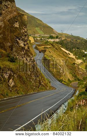 Road to beautiful andean city of Canar in Azogues Ecuador