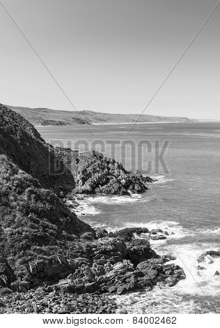 Australian Coastline Black And White