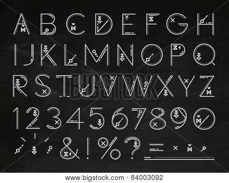 Font Flat chalk