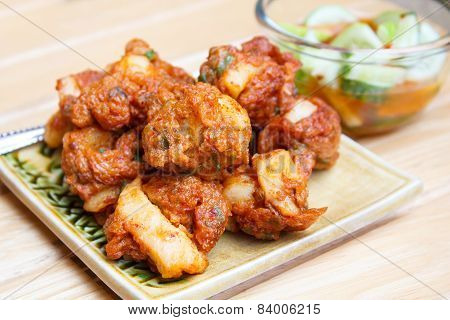 Fried Fish Cake With Squid (tod Mun).