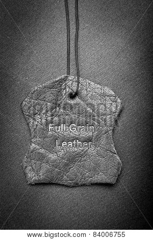 Leather Tag Black And White