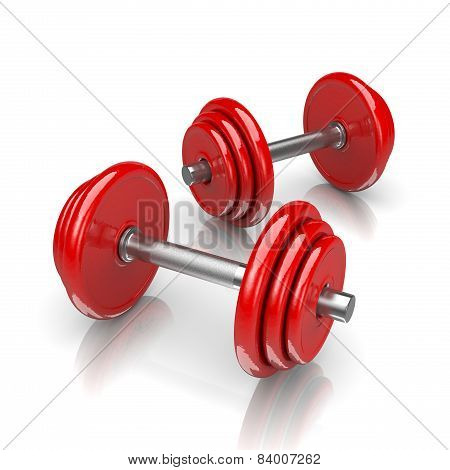 Couple Of Red Weights