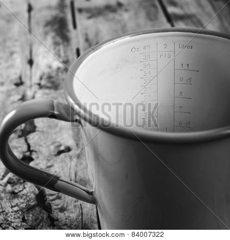 Vintage Measuring Jug Black And White