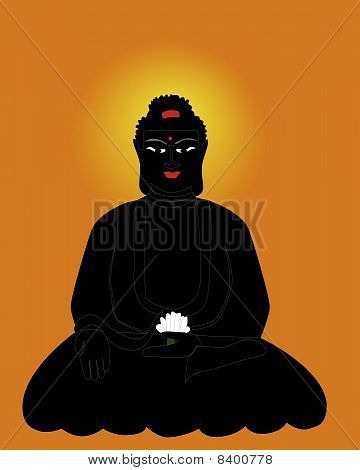 Silhouette Of The Buddha
