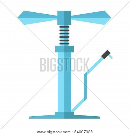 Angular Blue Bicycle Pump
