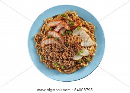 Fried Noodle With Pork Sliced, Fish Cake And Minced Pork