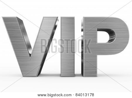Vip Metal - 3D Letters Isolated On White
