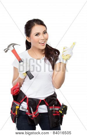 Pretty Young Woman Construction Worker