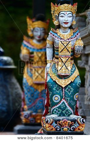 Two Balinese Statues