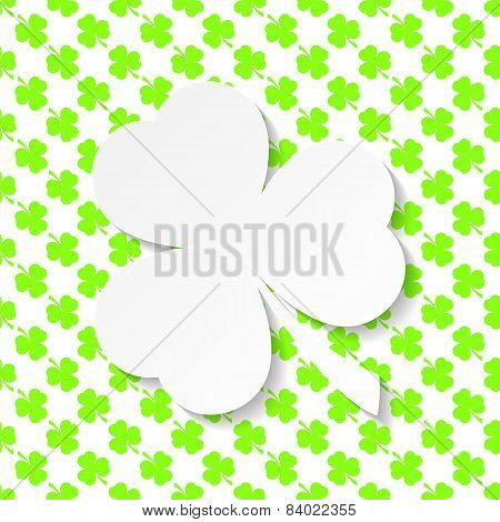 Happy  St. Patrick's  Day Background With Shamrock