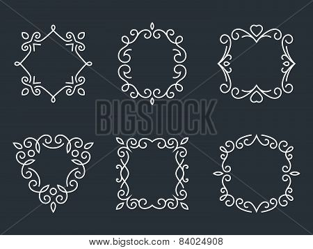 Outline monogram frames