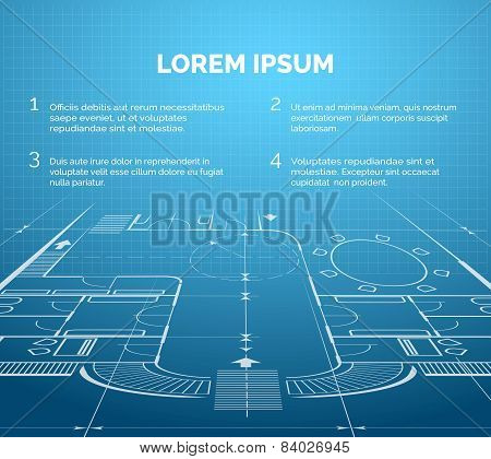 Architectural blueprint background