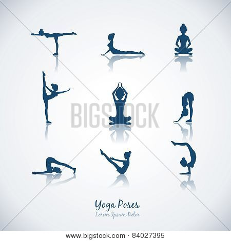 Vector yoga poses
