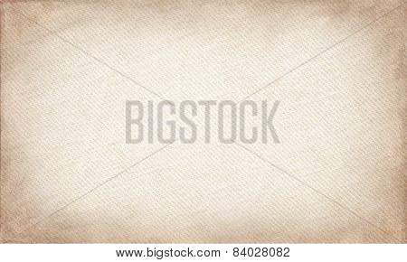 Beige Canvas With Delicate Grid To Use As Grunge Horizontal Background Or Texture