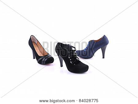 Colored high heels shoes