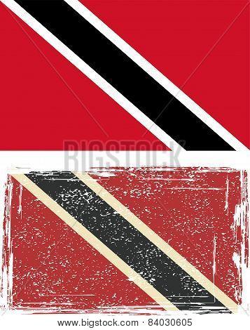 Trinidad and Tobago grunge flag. Vector illustration