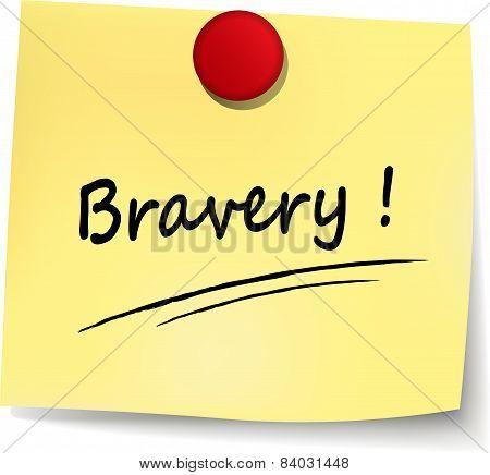 Bravery Yellow Note