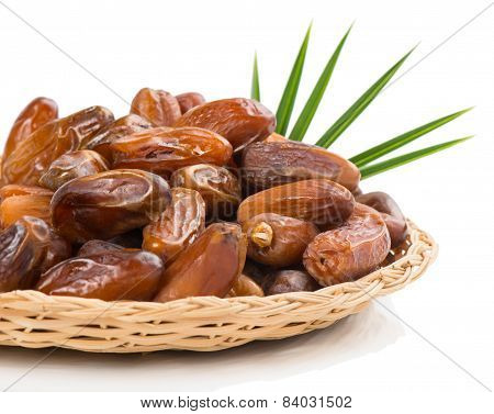 Dried Date Fruits In A Dish