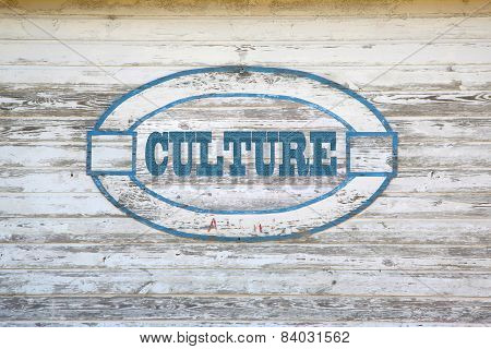 Culture road sign