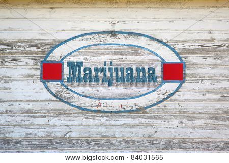 Marijuana road sign