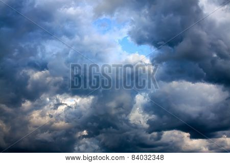 Background From The Sky And Dark Storm Clouds