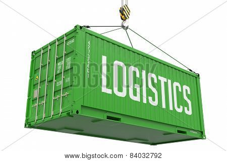 Logistics - Green Hanging Cargo Container.