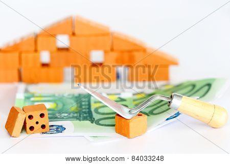 Banknotes With Brick Wall