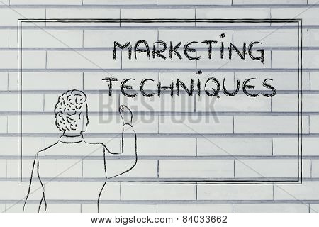 Teacher Or Ceo Explaining About Marketing Techniques